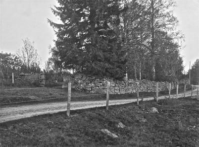 Gamla kyrkogården, Kyrkobyn, Östervallskog - 1923. Foto: J B Söderblom