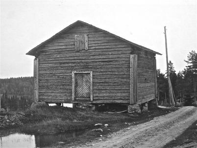 Sockenmagasinet i Kyrkobyn Östervallskog - 1923.