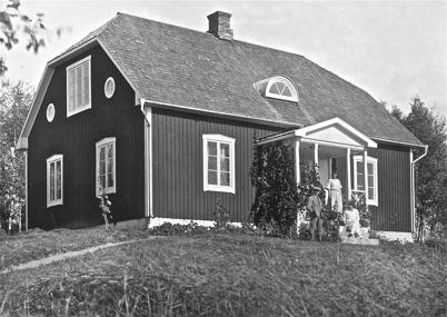 Lärarebostaden, Bön, Östervallskog - 1923.