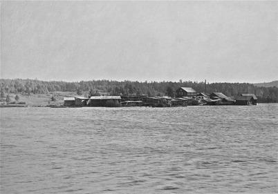 Holmen, snickerifabriken i Rommenäs, Östervallskokg - 1923.
