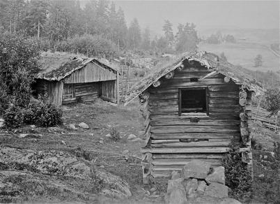 Tjölna och bastu i Sögårn, södra Ivarsbyn, Östervallskog - 1923.