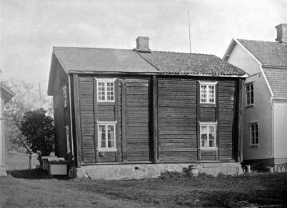 Väststugan i Bottner, Östervallskog. Moderniserad gammal Nordmarksstuga. 1923.