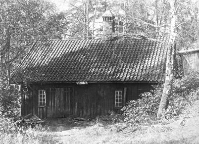 Smedja senare andelstvättstuga vid Bruket i Töcksfors.