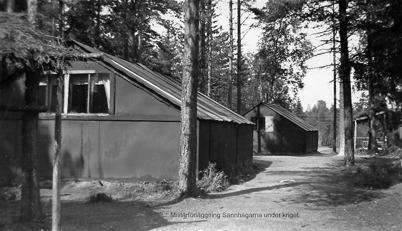 Militärförläggning i Hån, 1940-talet / Bengt Erlandssons arkiv.