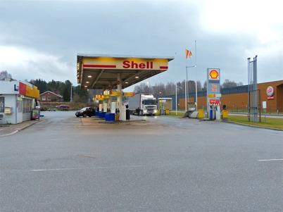 2 januari 2014 - Shell bensinstation gick ur tiden.