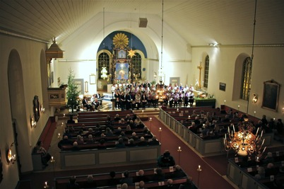 5 januari 2014 - Nordmarkens Pastorat  invigdes med Högtidsgudstjänst i Holmedals kyrka.