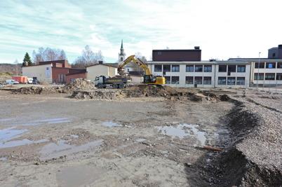 12 mars 2014 - Markarbetet för bygget av nya högstadieskolan i Årjäng påbörjas.