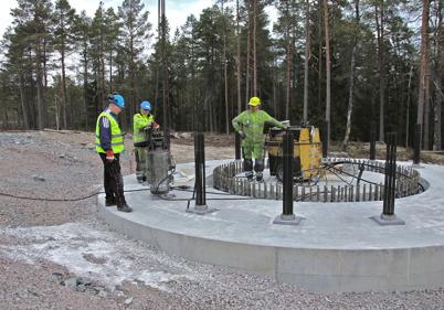5 maj 2014 - På Mölnerudshöjden i Holmedal tog arbetet med vindkraftsparken stora steg framåt.