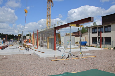 26 maj 2014 - Arbetet med nya högstadieskolan i Årjäng fortsatte enligt plan.