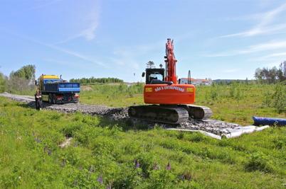 27 maj 2014 - Vid Prästnäset byggdes en ny gång- och cykelväg.
