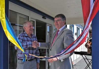 29 maj 2014 - Malte Johansson var nöjd när hans nya butik stod klar för invigning.