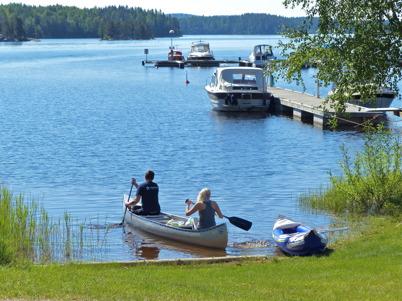 1 juni 2014 - Försommaren bjöd in till aktiviteter i Vattenlandet.