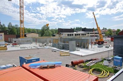 2 juni 2014 - Arbetet med nya högstadieskolan i Årjäng fortskred.