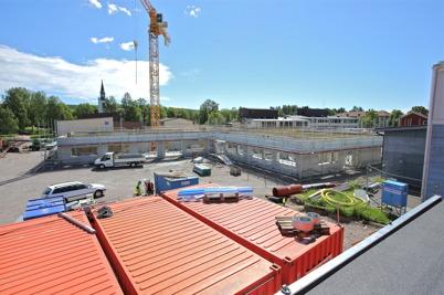 12 juni 2014 - Nya högstadieskolan i Årjäng började ta form.