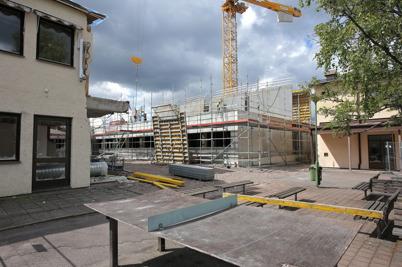 30 juni 2014 - Och arbetet med nya högstadieskolan i Årjäng fortskred.