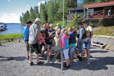 4 juli 2014 - Det var ett sammansvetsat gäng som deltog i Göran´s seglarskola i Sandviken.
