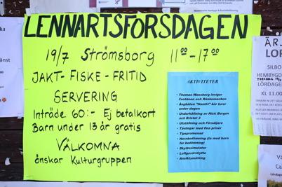 19 juli 2014 - I Lennartsfors ordnade man Lennartsforsdagen.