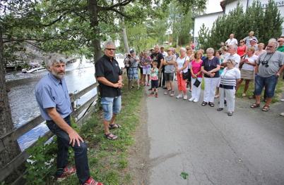 19 juli 2014 - Lennartsforsdagens andra invigning gällde den nya fontänen i kanalen, och det var återigen Thomas Wassberg som var i farten.
