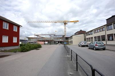 20 augusti 2014 - I Årjäng pågick skolbygget.