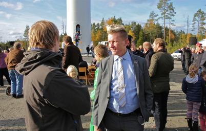 3 oktober 2014 - Även kommunalråd Daniel Schützer var på plats, han var en av talarna vid invigningen.
