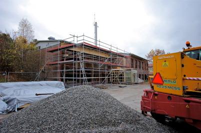 15 oktober 2014 - Och i Töcksfors fortsatte ombyggnaden av brandstationen.