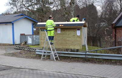 1 december 2014 - Så fick vi en ny anslagstavla i Töcksfors centrum.