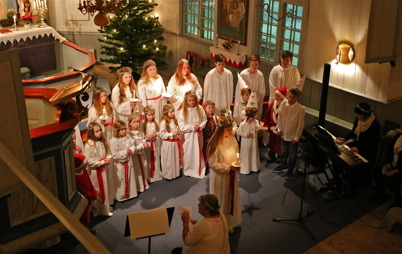 6 december 2014 - I Töcksmarks kyrka firades Lucia.