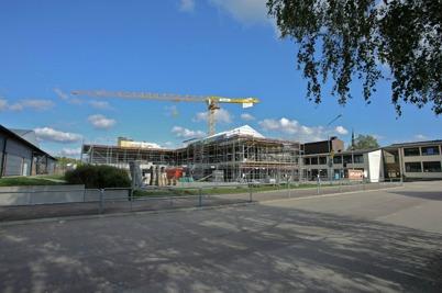 17 september 2014 - Arbetet med byggnationen av ny högstadieskolan i Årjäng fortsatte enligt tidsplan.