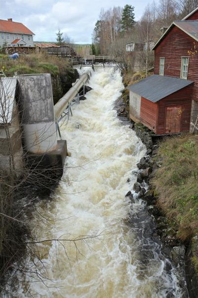 27 oktober 2014 - Vattenflödet från Norge mynnar ut i Östervallskog, där forsen skickar vattnet vidare till sjöarna Östen och Töck.