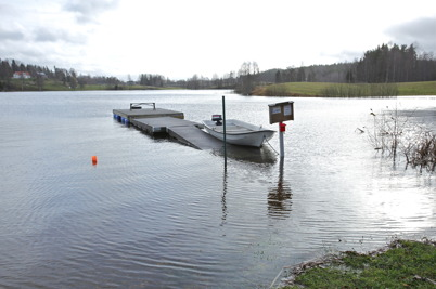 27 oktober 2014 - Vattnet steg kraftigt i Hånsviken.