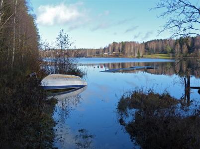 25 oktober 2014 - Sjön Töck var välfylld.