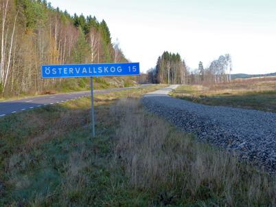 29 oktober 2014 - Nya gång- och cykelvägen till bostadsområdet Prästnäset väntar på asfaltering.