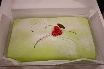 Det bjöds på tårta.