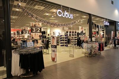 Klädbutiken Cubus i shoppingcentret.