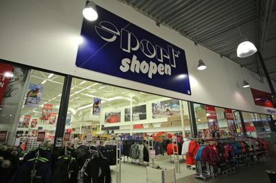 Sport shopen i shoppingcentret.