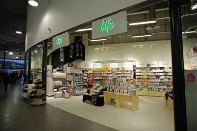 Life butiken i shoppingcentret.
