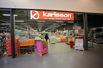 Karlsson butiken i shoppingcentret.