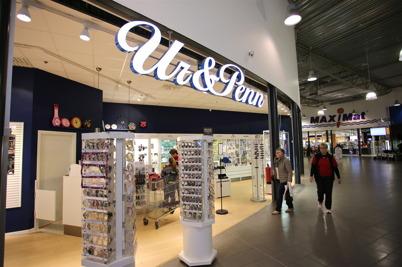 Butiken Ur & Penn i shoppingcentret.