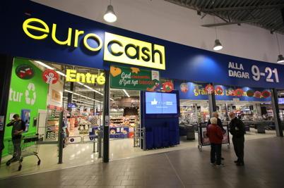 Matbutiken Eurocash i shoppingcentret.