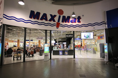 Matbutiken MaxiMat i shoppingcentret.