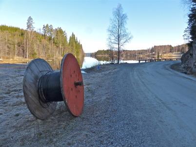 """4 april 2014 - Töcknet bygger digital """"motorväg"""" från Ulvenäs, Gottarsbyn, Östegård och Sanda till Töcksfors med anslutning till övriga världen."""
