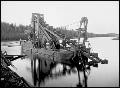 Mudderverket som användes vid byggandet av kanalen Stora Lee - Östen.