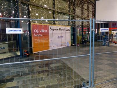 7 januari 2013 - utbyggnaden av Shoppingcentret gick in i ett intensivt slutskede.