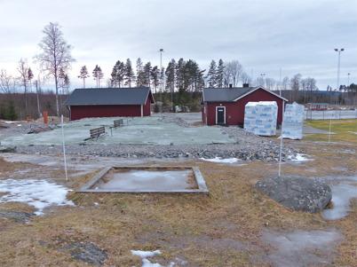 11 januari 2013 - vid Hagavallen gjordes förberedelser för gjutningen av klubbstugans bottenplatta.