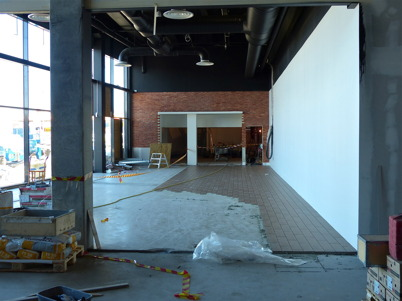 23 januari 2013 - arbetet med färdigställande av Burger Kings nya restaurang i Shoppingcentret gick som planerat.