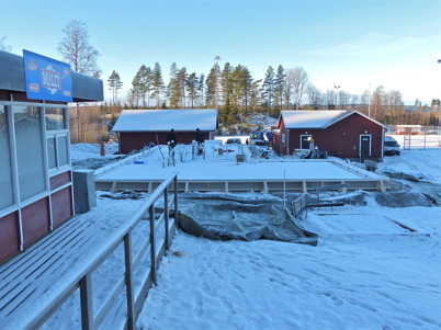 24 januari 2013 - och så var det klart för gjutning av klubbstugans bottenplatta vid Hagavallen.