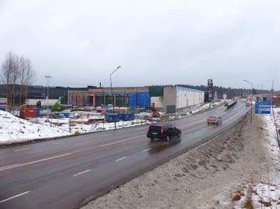 29 januari 2013 - vid Shoppingcentret fortsatte arbetet med färdigställande av utbyggnaden.