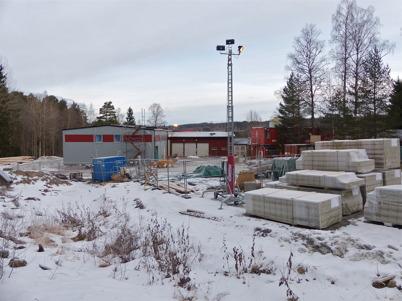 3 februari 2013 - arbetet med nya reningsverket i Töcksfors fortsatte.