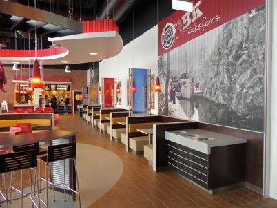 17 februari 2013 - Burger Kings nya restaurang i Shoppingcentret var klar att tas i bruk.
