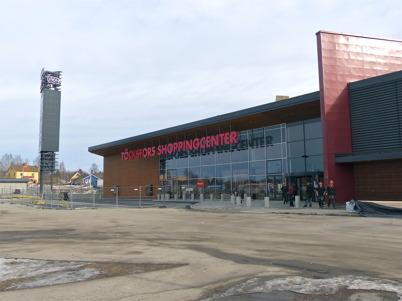 4 mars 2013 - utbyggnaden av Töcksfors Shoppingcenter färdigställdes.